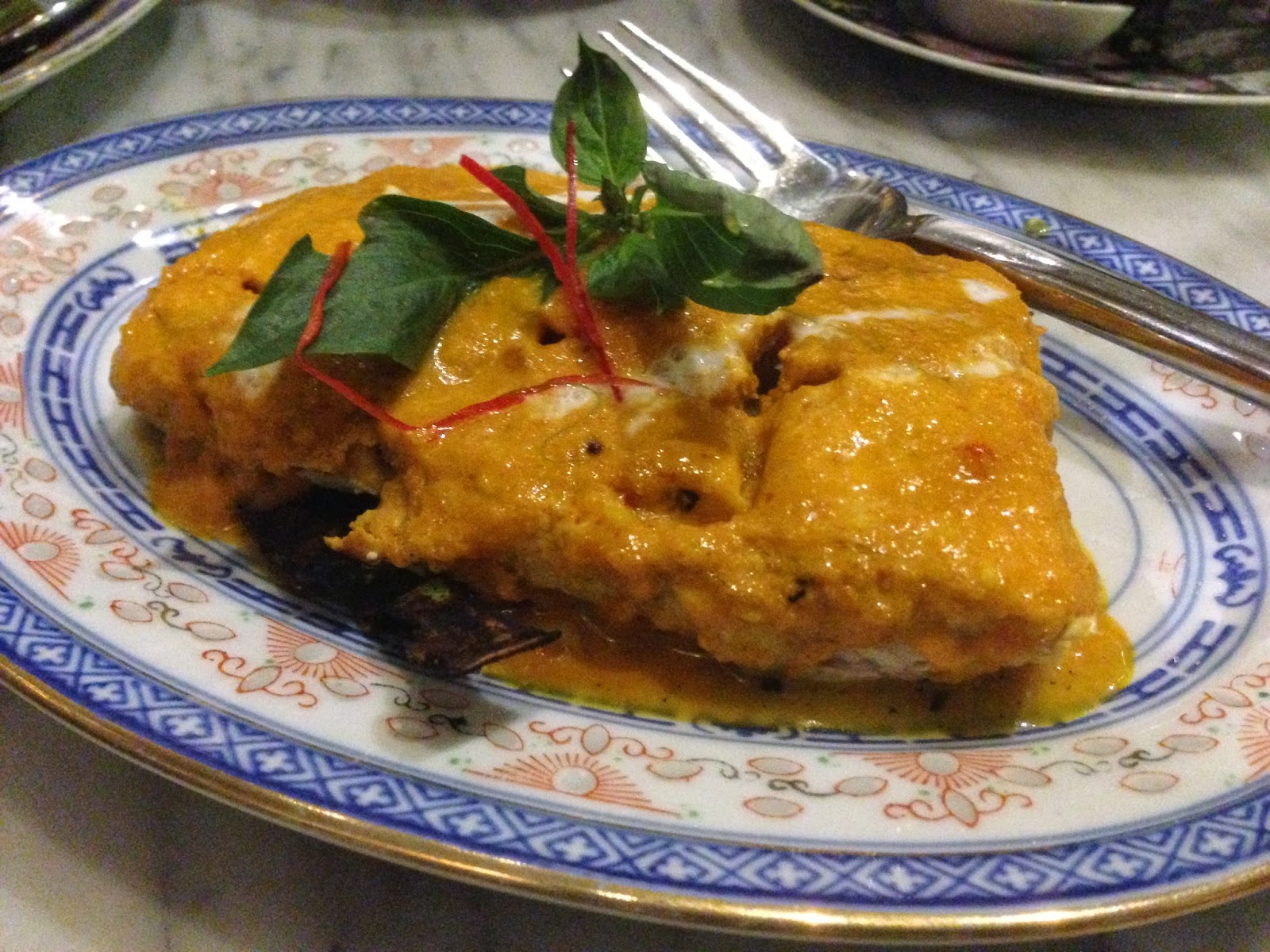 The kebaya restaurant at the seven terraces georgetown for Fish fillet sauce