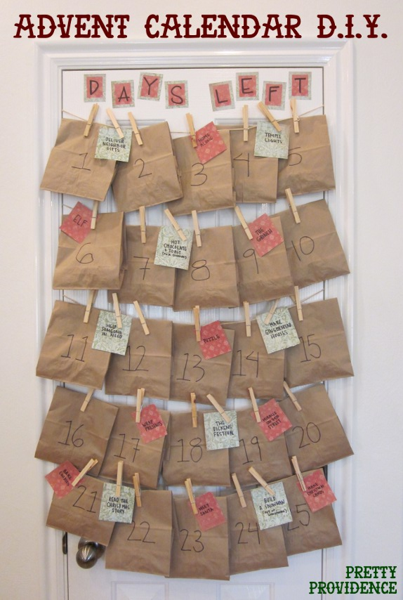 30 diy christmas advent calendars for Diy christmas advent calendar ideas