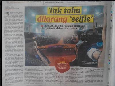 pelajar utim selfie