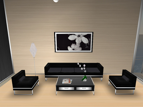 The Living Room Furniture Set Is Appropriate With The Room Design So