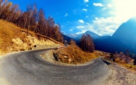Mountain Hairpin Curve