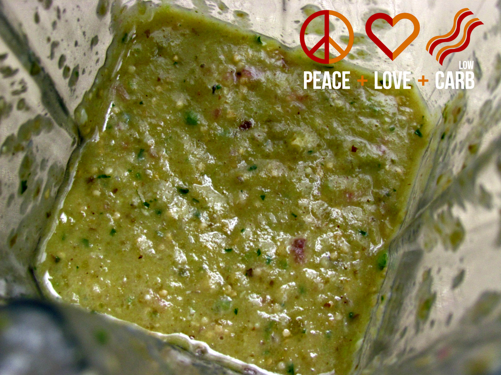 Roasted Tomatillo Avocado Salsa Verde | Peace Love and Low ...