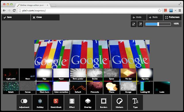Pixlr Express 的各種特效