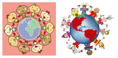 Imagenes de Niños Del Mundo Para Colorear Niños Alrededor Del Mundo Para