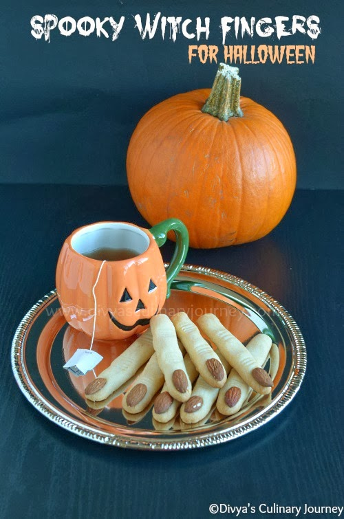 spooky witch fingers (finger shaped egg-less butter cookies) halloween special