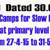 RC.90 Summer Camps for Slow Learners at primary level from 27-4-15 to 31-5-15