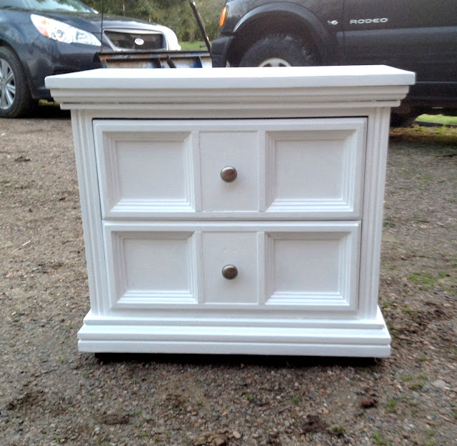 Refreshed White Night Stands Repainted