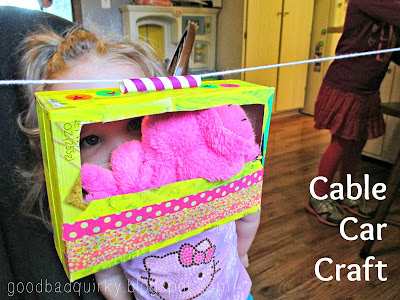 craft with cardboard box