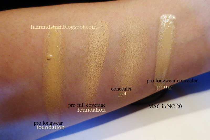 M, foundation color matching for