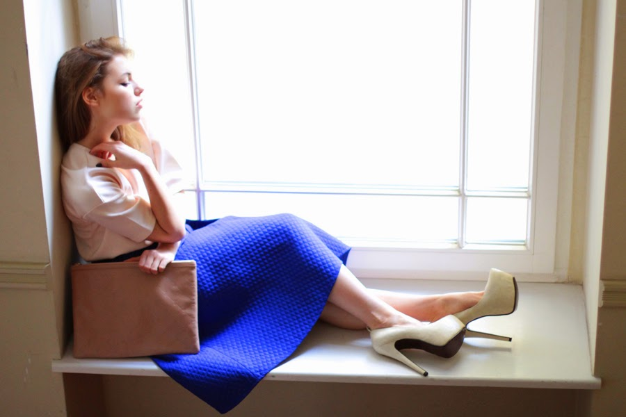 blue skirt by review