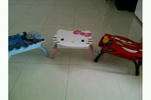 Meja lipat hello kitty
