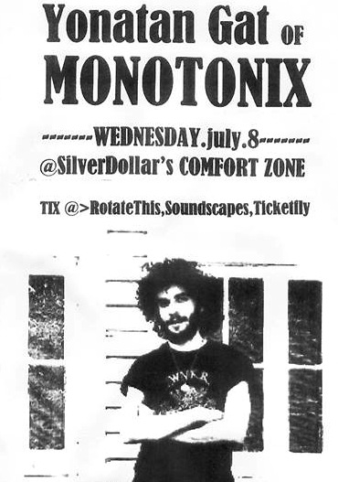 Yonatan Gat (of Monotonix) @ Comfort Zone, Wednesday