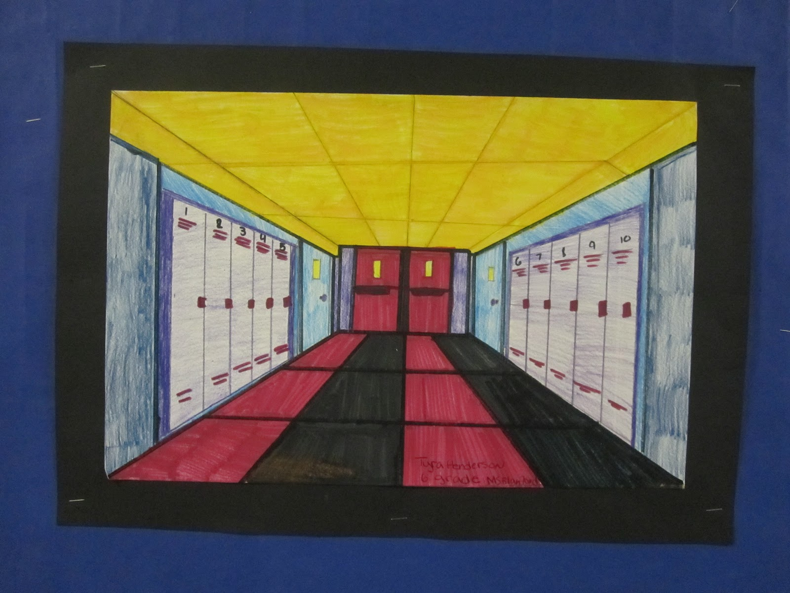 One point perspective dream bedroom -  To Draw Their Dream Bedroom On Their Own For My 6th And 7th Grade Elective Class I Simplified The Process And They Had To Create A Hallway And These
