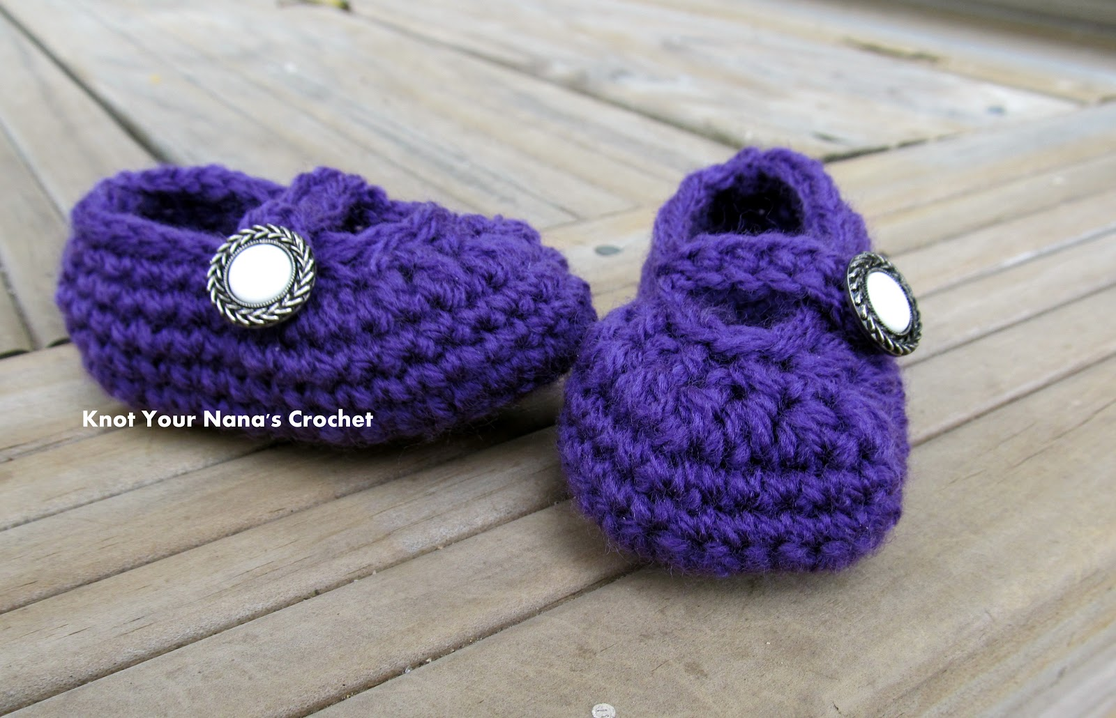 Knot Your Nanas Crochet: Crochet booties with strap: Free ...