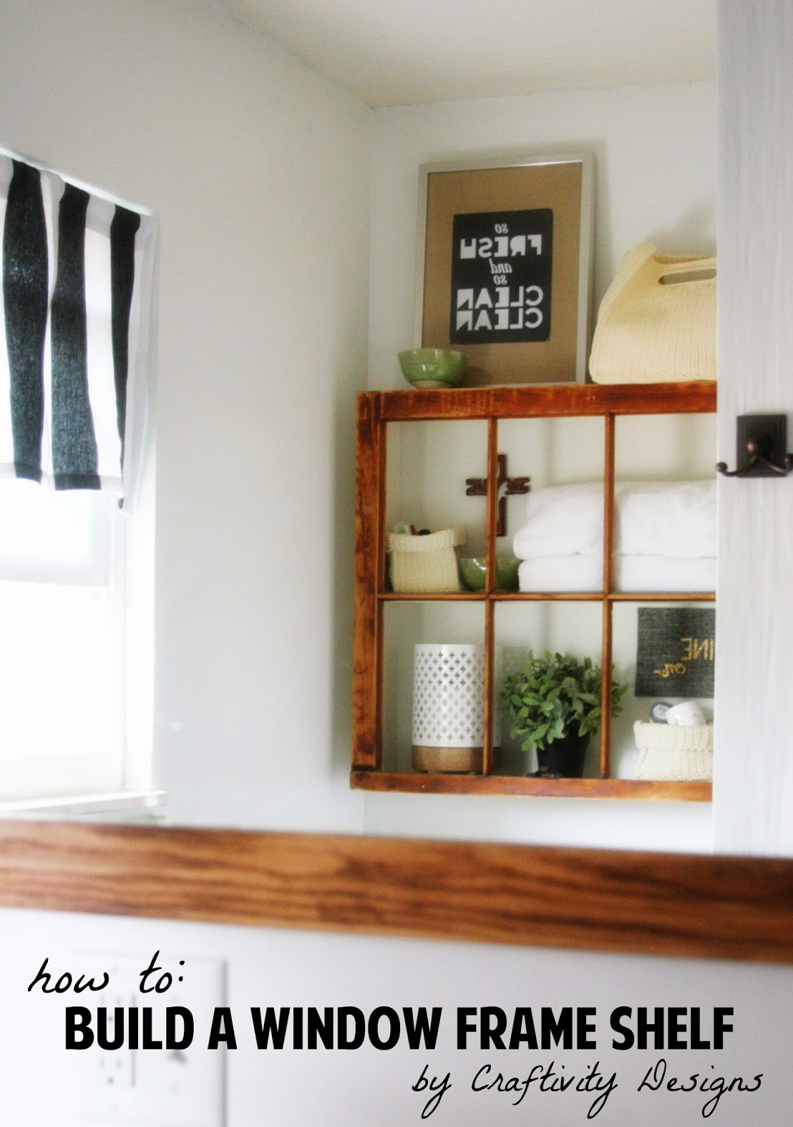 build a window frame shelf