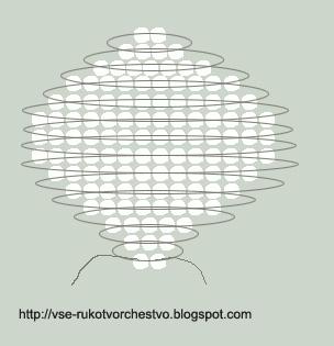 Цветок нарцисс параллельным плетением схема большого лепестка