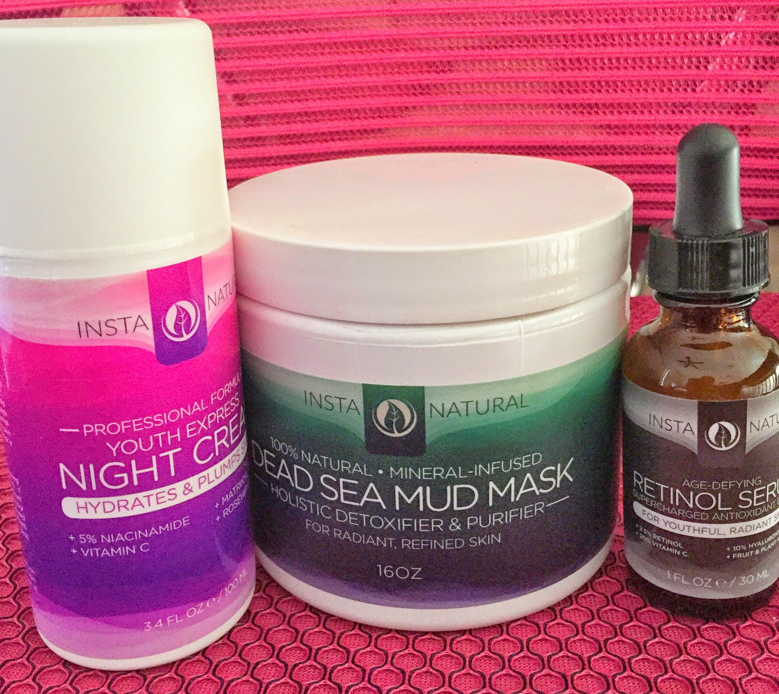 Nighttime Skin Care Routine youth express  retinol serum night cream dead sea mud mask instanatural www.sandysandhu.co