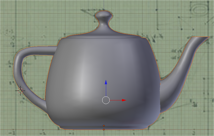how to make a square hole round in blender