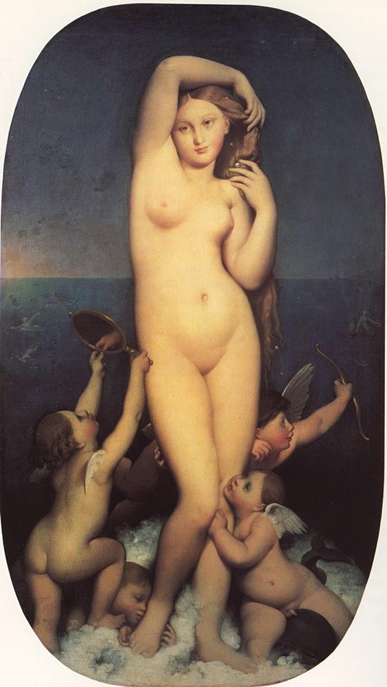 Jean-Auguste Dominique Ingres, Venus Anadyomène (Comenzada en 1807 y probablemente acabada en 1848)