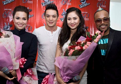 The Voice of the Philippines Coaches: Lea Salonga, Bamboo, Sarah Geronimo and Apl.de.ap