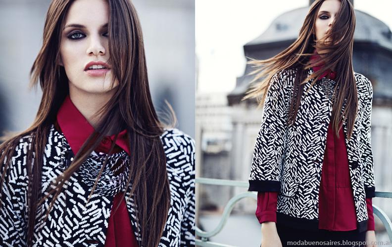 Moda invierno 2014 colección Mab chaquetas cortas, tapados y abrigos 2014.