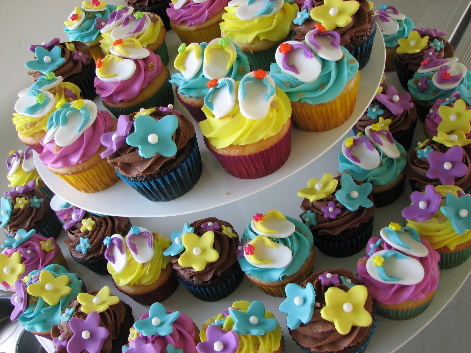 Decadent Designs Hawiian Luau Cupcakes