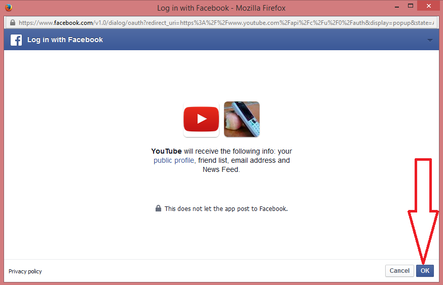 Connect Youtube to Facebook