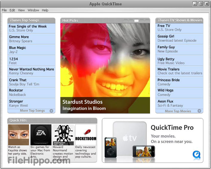 Quicktime player 7.74 new version