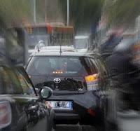 Traffico in centro a Roma