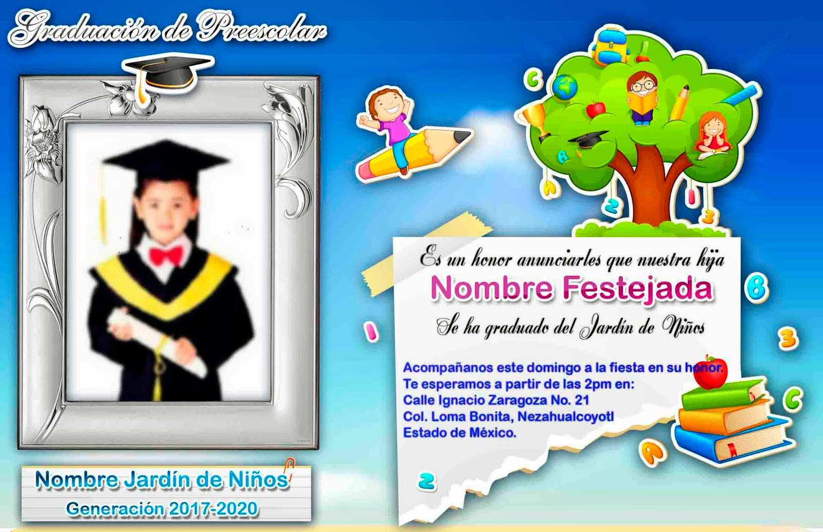TARJETAS DE GRADUACION - TARJETAS EL SALVADOR - Holiday and Vacation