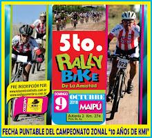 RALLY BIKE DE LA AMISTAD - 9/10/16 - MAIPU