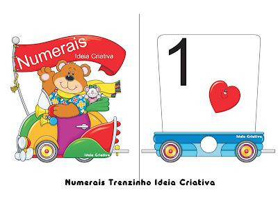 Alfabeto e Numerais Trenzinho Ideia Criativa