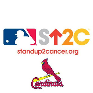 Stand Up To Cancer and St. Louis Cardinals Baseball Team logos