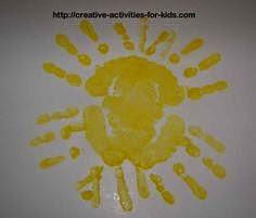 Fingerpaint Sun Craft