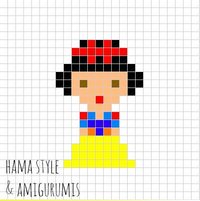 Marta Ruso Crochet Creativo: Marcapáginas princesas DISNEY - HAMA ...