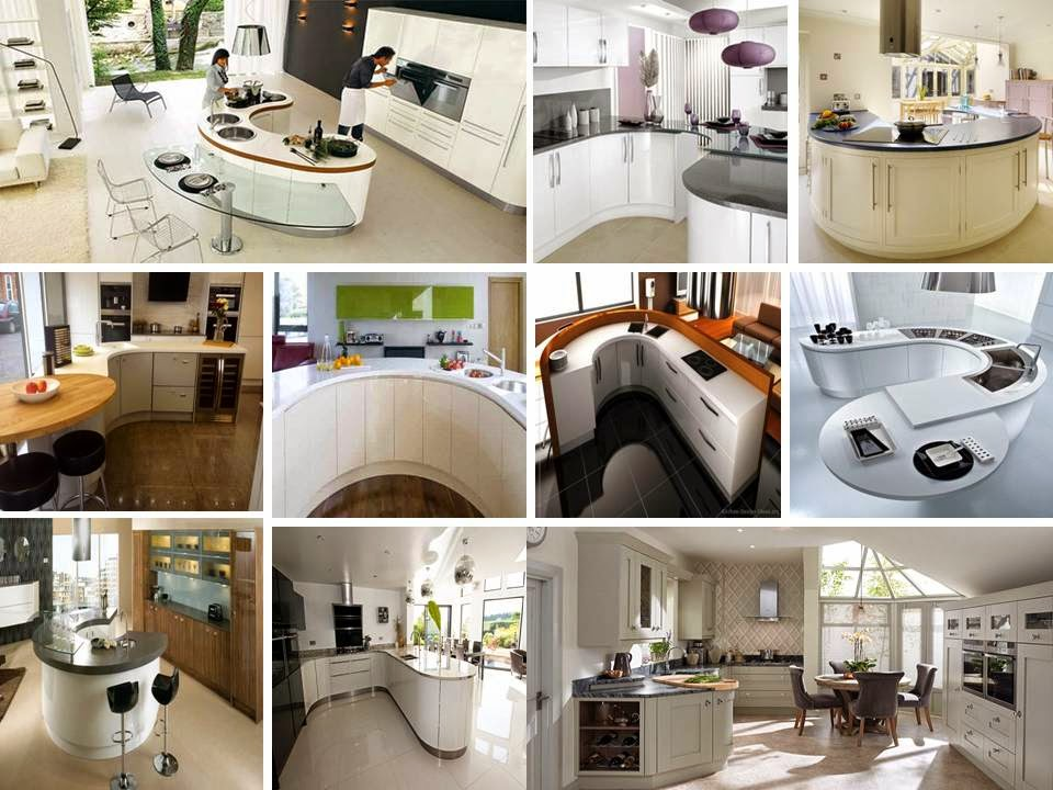 White curved kitchen ideas