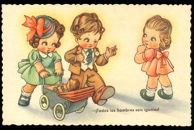 dibujos retro niños