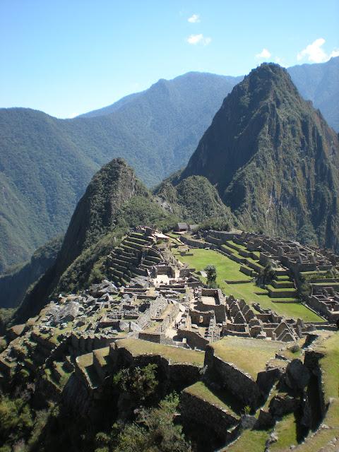 View of Machu Pichu near Cusco, Peru