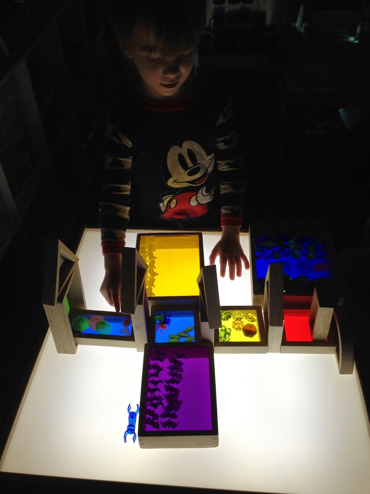 light table and window blocks