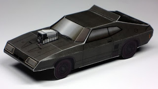 Police Vehicle Ford Falcon XB GT Papercraft