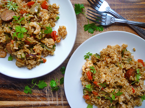 Slow Cooker Prawn and Sausage Jambalaya Recipe