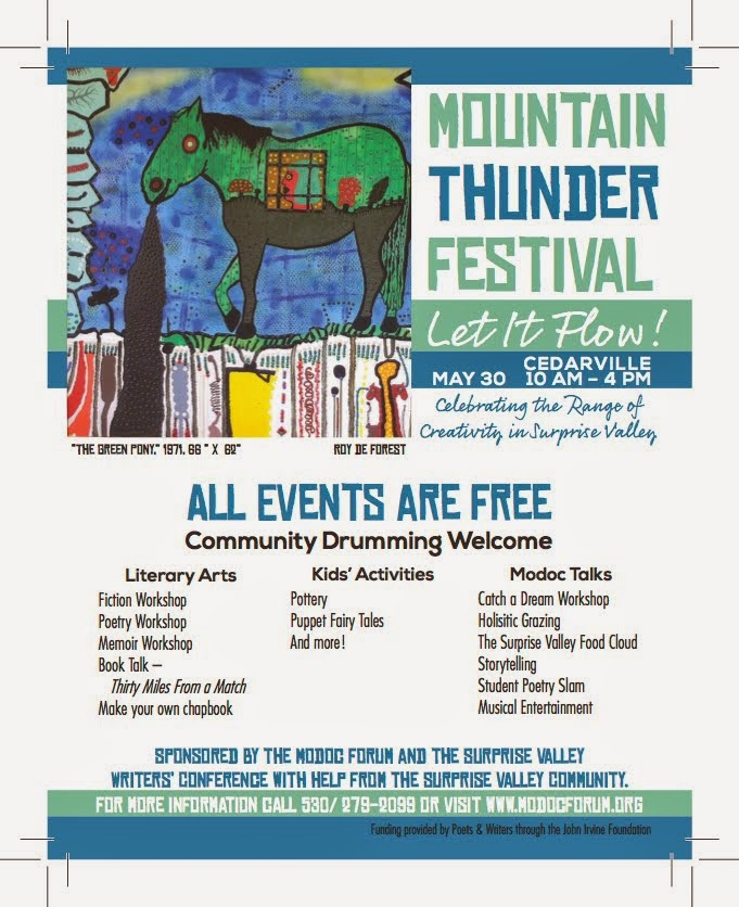 MOUNTAIN THUNDER FESTIVAL in Cedarville Sat. (5/30)