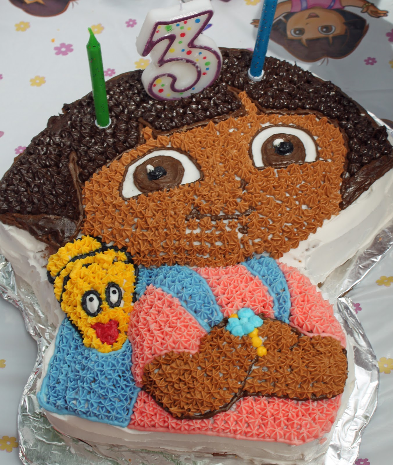 Dora Template For Cake