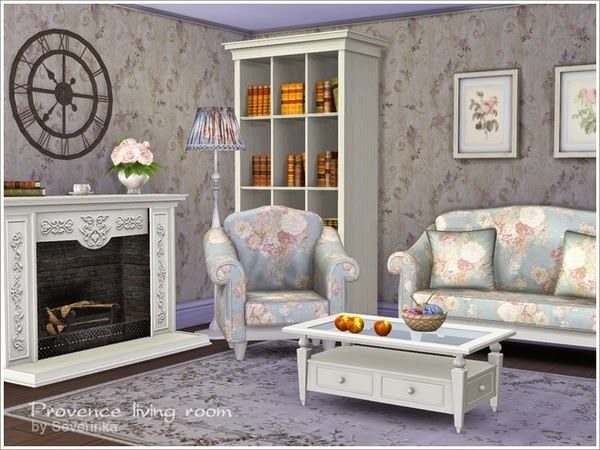 My sims 4 blog severinka 39 s provence living room for Living room sims 4