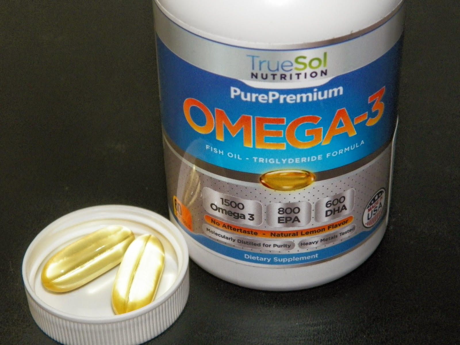 Mygreatfinds omega 3 fish oil by true sol review for Fish oil supplement dosage