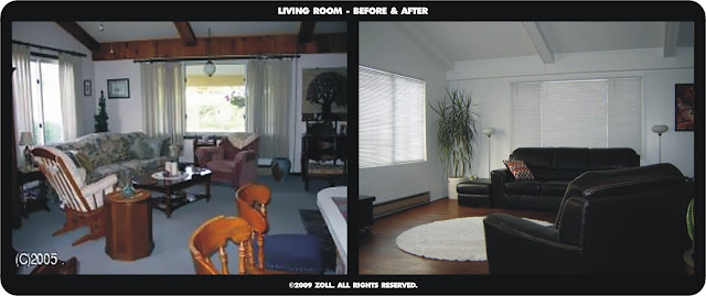 ©2009 Zoll - living room before and after rt