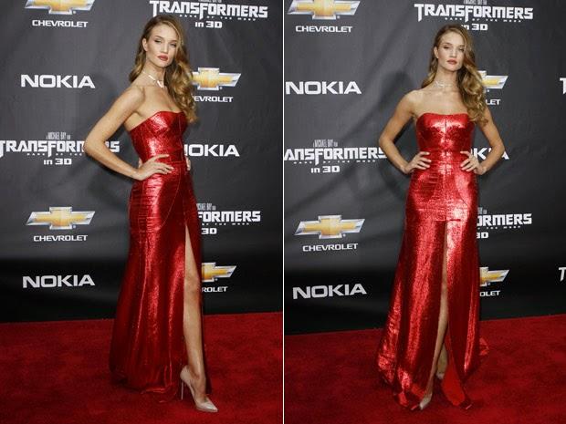 modelo de vestido longo vermelho com fenda - foto e modelo