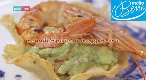 Cestino con guacamole e gamberi ricetta Parodi per Molto Bene