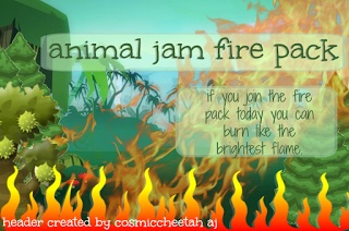 The Animal Jam Fire Pack