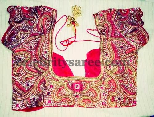 Stone Work Blouse Designs by Uravi